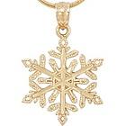 Snowflake 14k Yellow Gold Pendant