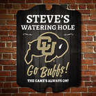 Personalized University of Colorado Watering Hole Bar Sign