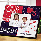 Personalized My/Our Hearts Belong to...Frame