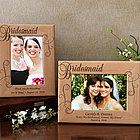 Personalized Royale Bridesmaid Wooden Picture Frame