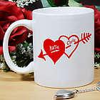 Two Hearts Valentine Coffee Mug