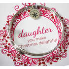 Christmas Daughter Bangle Bracelet
