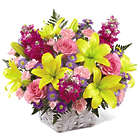 Bright Lights Basket Premium Floral Bouquet