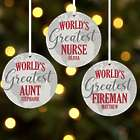 Personalized World's Greatest Round Ornament
