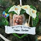 Personalized In Loving Memory Photo Frame Ornament