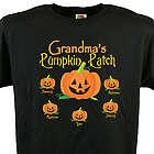 Pumpkin Patch Personalized Halloween Black T-Shirt