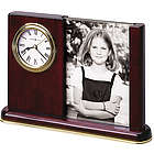 Personalized Portait Caddy Desk Clock with Photo Frame
