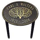 Personalized Aluminum Memorial Marker in Black and Gold Finish