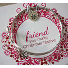 Friend Personalized Christmas Bracelet