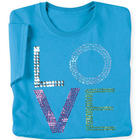 Love Stack Sequin Ladies T-Shirt