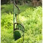 Metal and Glass Wave Garden Stake