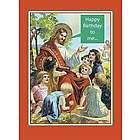 Happy Birthday To Me Jesus Christmas Card