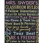Personalized Classroom Rules Canvas Wall Art