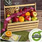 Organic Orchards Garden Fruit Basket with Thank You Ribbon