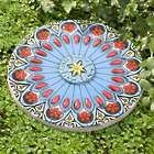 Colorful Flower Garden Stone