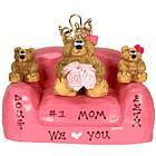 Teddy Bear Mommy Queen & Kids in Loveseat