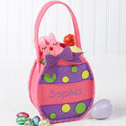 Pink Easter Egg Personalized Treat Bag