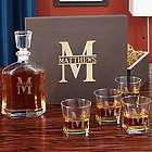 Oakmont Custom Decanter and Whiskey Glasses