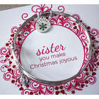 Personalized Christmas Sister Bangle Bracelet
