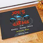 Personalized Motorcycle Garage Doormat