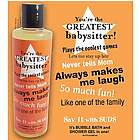 Babysitter Greeting Message Shower Gel