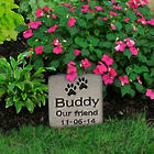 Small Custom Engraved Pet Grave Marker Stone