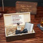 Engraved Rustic Wooden Box Groomsmen Gift Set