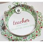 Personalized Christmas Teacher Bracelet