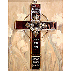Personalized Stained Glass Memorial Cross