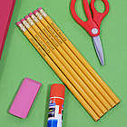 Engraved Yellow School Pencils
