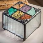 Windowpane Art Glass Box