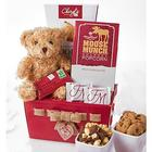 My Valentine Bear and Sweets Gift Basket