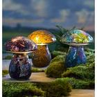 Glass Mosaic Mushroom Lawn Ornament