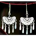 Emporer's Fan Sterling Silver Filigree Earrings