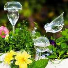 3 Hand-Blown Glass Plant Watering Globes