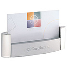 Modern Steel Pearl Desktop Business Card Holder
