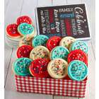 Frosted Butter Cream Cookies in Summer Celebration Tin