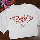 Personalized Polish Princess Youth T-Shirt