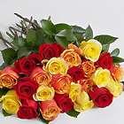 Two Dozen Autumn Roses Bouquet