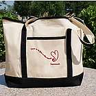 No Fear in This Heart Personalized Chemotherapy Tote Bag