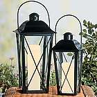 Black Lanterns Decorative Accent