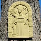 Cast Stone St. Francis Plaque