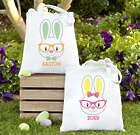Personalized Smart Bunny in Glasses Easter Tote Bag