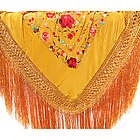 Handmade Spanish Silk Tiger Eye Flamenco Manton Shawl