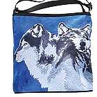 Painted Wolf Cross Body Bag