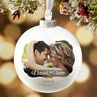 Wedding Day Photo Personalized Deluxe Globe Ornament