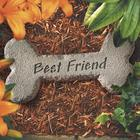 Best Friend Cast Stone Bone Plaque