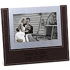 Personalized Faux Leather Aluminum Photo Frame