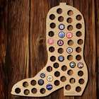 Cowboy Boot Beer Cap Map