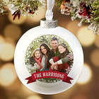 Personalized Globe Christmas Ornament
